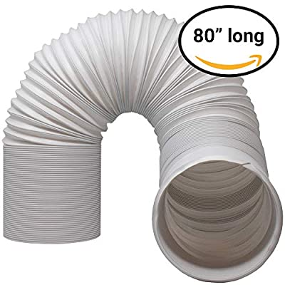 "Kraftex Air Conditioner Hose. Portable Exhaust Vent with 5.9"" or 5"" Diameter - Length up to 80"". Great for LG, Delonghi and Many More Portable Air Conditioners. AC Hose to Stop Leaks and Save Energy"