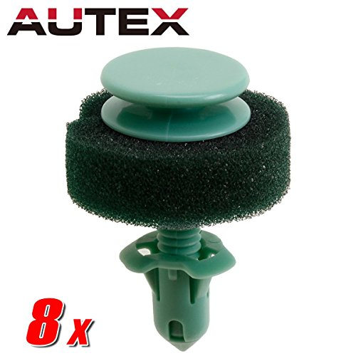 (AUTEX 8pcs Fender Liner Fastener Rivet Push Clips Retainer Nut )
