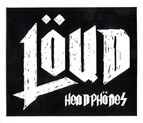 Loud casque Skateboard Autocollant–8cm de largeur env. Skate board BMX Snowboard Earbuds Musique SK8 Loud Headphones