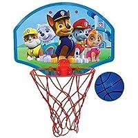 """Nickelodeon Paw Patrol 34,29 cm x 25,4 cm juego de baloncesto """"Bola, aro, canasta de gancho para puerta"""""""