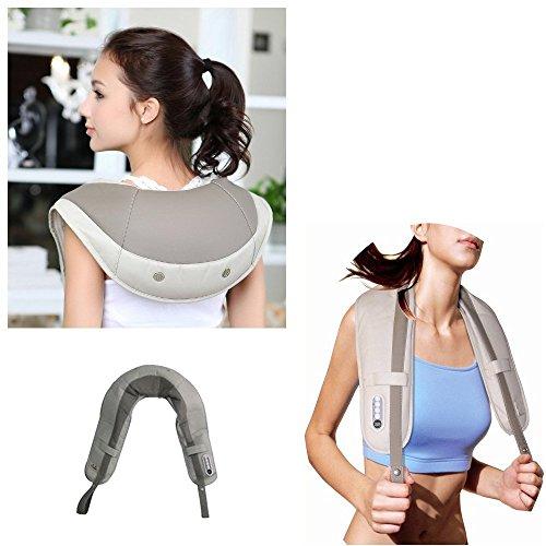 Massage Cervical - E-best® Cervical Massage Shawls ,Neck and Shoulder Tapping Massager with Heat----Beige Color
