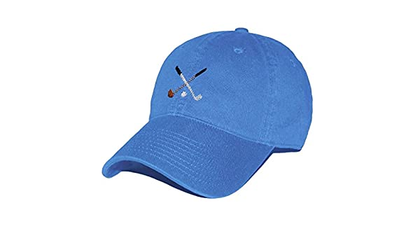 6c22d8b0baf80 Crossed Golf Clubs Needlepoint Hat in Royal Blue by Smathers   Branson at  Amazon Women s Clothing store
