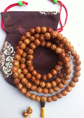 Bodhi Seed Mala - Tibetan Buddhist natural bodhi seed meditation Mala/prayer beads/ from boudhgaya