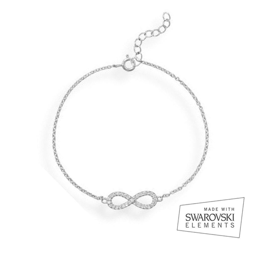 2c8c4600b 18ct White Gold Plated Pave Infinity Bracelet made with Swarovski Elements:  Amazon.co.uk: Jewellery