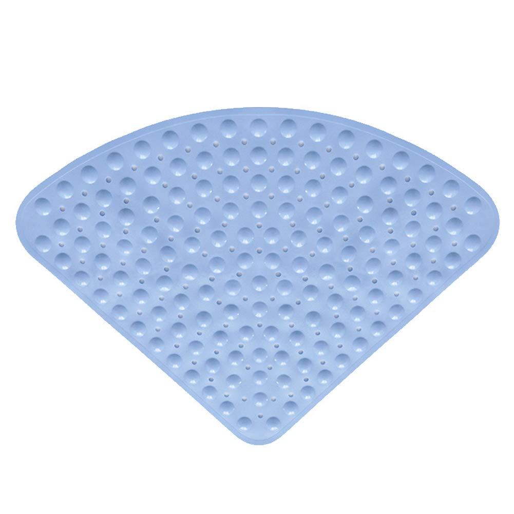 szlsl88 Tappetino Doccia Antiscivolo per WC 54x54 cm Tappeto Doccia angolare in PVC a Forma settoriale per Bagno dellhotel