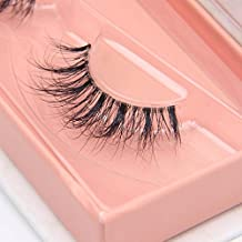 Arimika Handmade 3D Mink Fake Eyelashes -Reusable with Clear Invisible Flexible Band, Lightweight Fluffy Natural Looking