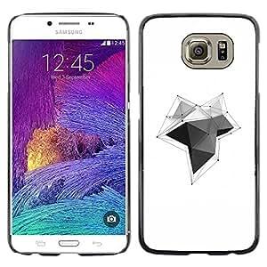 """For Samsung Galaxy S6 Case , Diseño Polígono Líneas Negro Blanco Limpio"""" - Diseño Patrón Teléfono Caso Cubierta Case Bumper Duro Protección Case Cover Funda"""