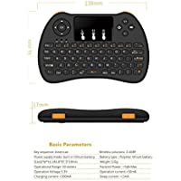 Matte Black Mini Wireless Keyboard 2.4G with Mouse Touchpad for PC, Pad, Xbox 360, Ps3, Android Tv Box, Htpc, Iptv
