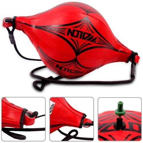 Double End Speed Ball Focus Boxing Punch Speed Ball Punching Thai MMA 3 Choice (RED) by kwanchan