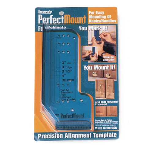 Laurey 98201 Perfect Mount Precision Allignment Template for Cabinet Hardware (Hardware And Tools)