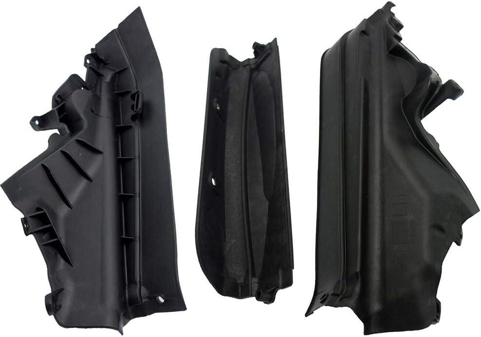 51717169421 51717169420 Set of 3 Engine Upper Compartment Partition Panel for BMW X5 E70 X6 E71 E72 Replaces 51717169419