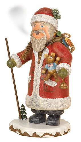 German Incense Smoker Winterchild Santa Claus - 20cm / 8inch - Hubrig Volkskunst by Authentic German Erzgebirge Handcraft