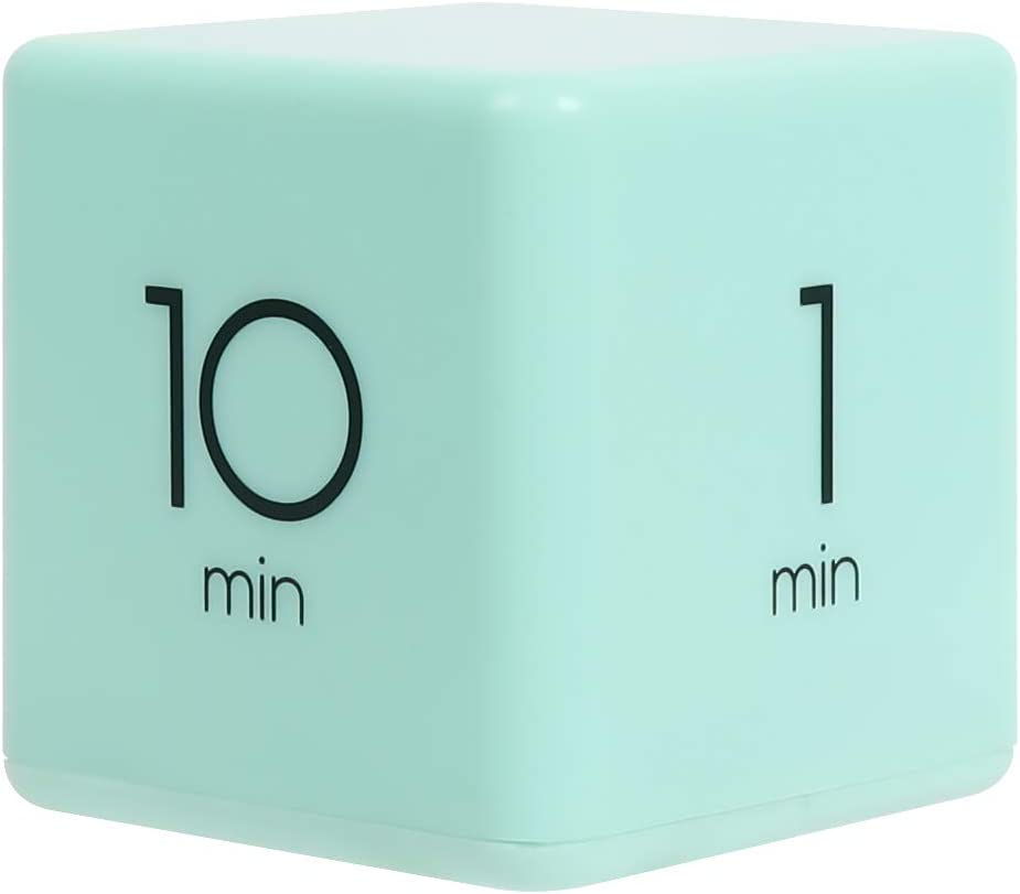 mooas Cube Timer 1, 3, 5 and 10 Minutes Time Management (Mint), Kitchen Timer, Kids Timer, Workout Timer