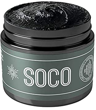 SOCO Botanicals – Activated Charcoal Exfoliating Face Scrub with Organic Essential Oils – All Natural Purifying Facial Cleanser, Face Scrub Detox Face Mask In One