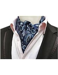 Men's Paisley Floral Cravat Tie Jacquard Woven Formal Self Ascot 5 color