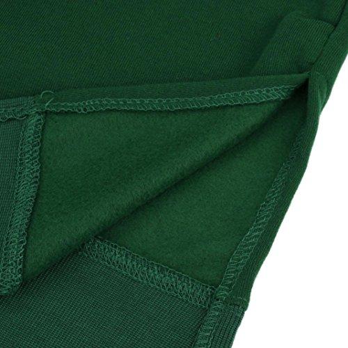 Women Blouse, Neartime Women Casual Hood Sweatshirt Hooded Ladies Long Pullover Tops (L5, Green) by NEARTIME (Image #5)