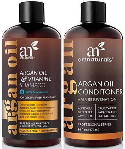 ArtNaturals Moroccan Argan Oil Hair Loss Shampoo & Conditioner Set - (2 x 16 Fl Oz / 473ml) -...