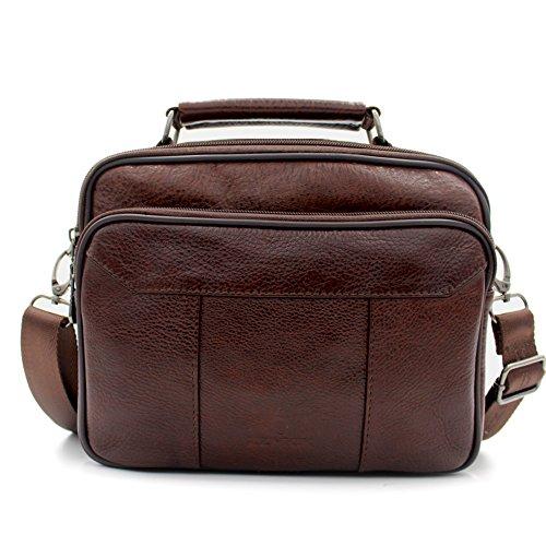 Mynos Men Crossbody Bag Genuine Leather Retro Purse and Handbags Business Shoulder Bag Man Messenger Bag