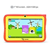 """Yuntab Kids Tablet Q88R 7"""" Allwinner A33,1.5Ghz Quad Core Android 4.4 Tablet PC,512+8GB,HD 1024x600,Dual Camera,WiFi,3D Game &TF Card,Supported with Parental Control Software - iWawa(Orange)"""