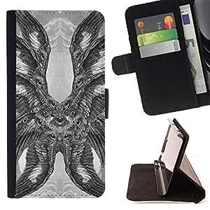 Momo Phone Case / Flip Funda de Cuero Case Cover - Plumas Hawk Owl Eagle Eye Alas - LG Nexus 5 D820 D821