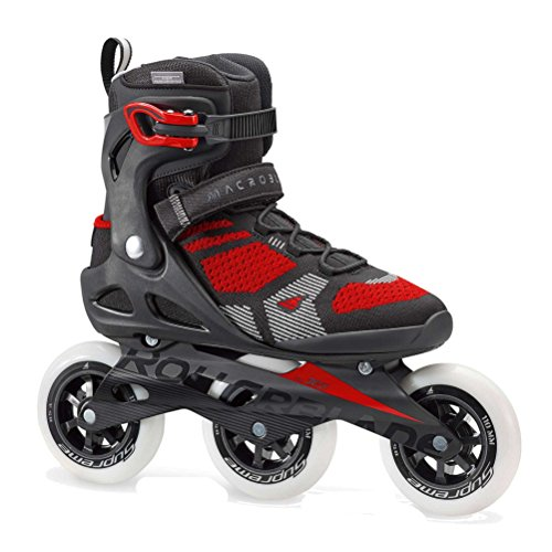 Rollerblade Macroblade 110 3WD Men's Adult Fitness Inline Skate, Black and Red, High Performance Inline Skates