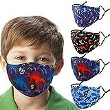Woplagyreat Dinosaur Kids Face Mask with Adjustable
