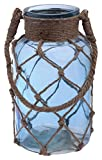 Boston International Cape Cod Style Net Covered Lantern, 10-Inch, Blue