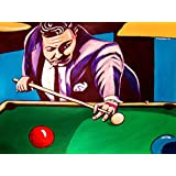 THE HUSTLER PRINT POSTER movie art jackie gleason dvd pool billiards stock cue felt brunswick ball rack