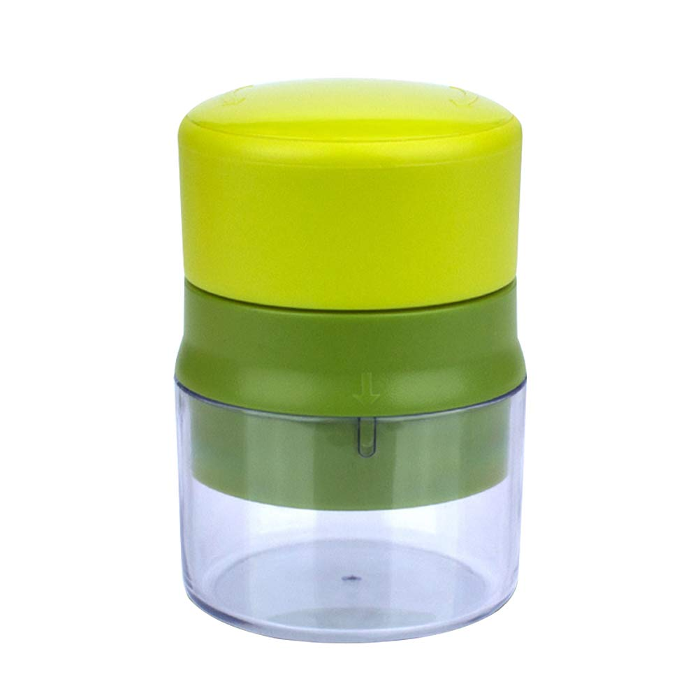BESTONZON Garlic Press Garlic Crusher Ginger Mincer Squeezer Chopper (Light Green and Dark Green)