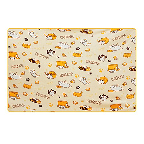 KINOMOTO Game Cat Astume Blanket Coral Fleece Cute Kitty Cats Throw Blanket for Children Daily Nap Quilt