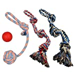 XL DOG ROPE TOYS FOR AGGRESSIVE CHEWERS - LARGE DOG BALL FOR LARGE AND MEDIUM DOGS - BENEFITS NON-PROFIT DOG RESCUE - LARGE FLOSS ROPE FOR DOGS DENTAL HEALTH - 100% COTTON ROPE TOY FOR LARGE DOGS 9