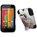 Maxtron Rugged Hybrid Hard T-Stand Dual Armor Case with Screen Proctor for Motorola Moto G XT1032 - Retail Packaging - Sun Flower