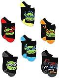 Teenage Mutant Ninja Turtles Boys 6 pk Socks (4-6 Toddler (Shoe: 7-10), Multicolored)