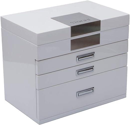 RENJIANFENG Caja Decorativa De Almacenamiento De Joyas De Madera ...