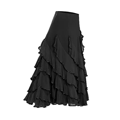 perfektchoice Falda de Baile para Mujer, Disfraz de Flamenco de ...