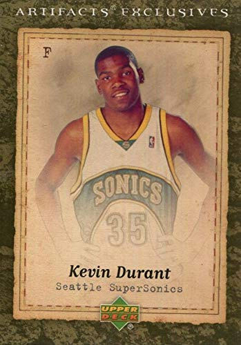 - 2007-08 Upper Deck Artifacts Exclusives - Kevin Durant - Basketball Rookie Card - RC Card #223