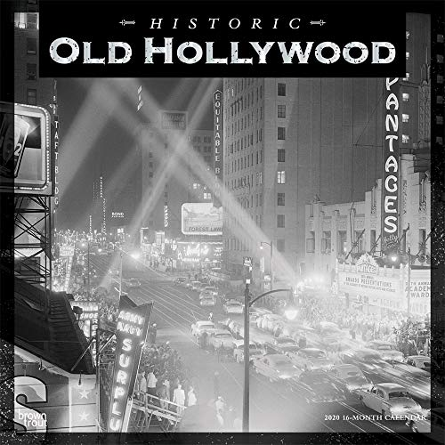 Old Hollywood Historic 2020 12 x 12 Inch Monthly Square Wall Calendar with Foil Stamped Cover, USA United States of America California Los Angeles ... City (English, Spanish and French Edition)