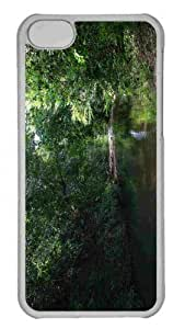Customized iphone 5C PC Transparent Case - Corrego Do Escuro Dark Creek Personalized Cover by lolosakes