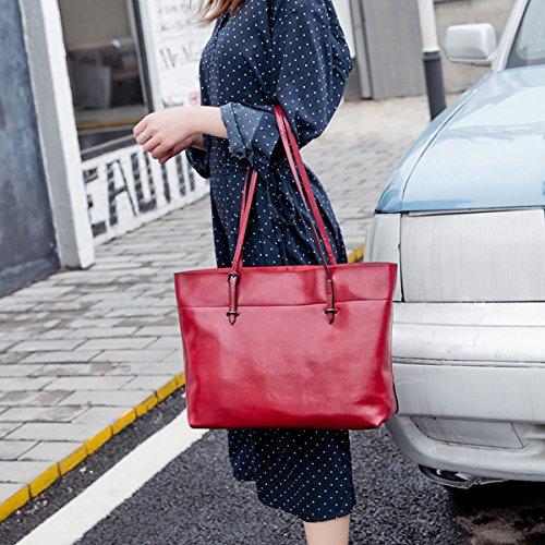 Sac en Girl à LF E 8825A épaule Bordeaux cuir Sac portés main femme fashion 6SwZ0