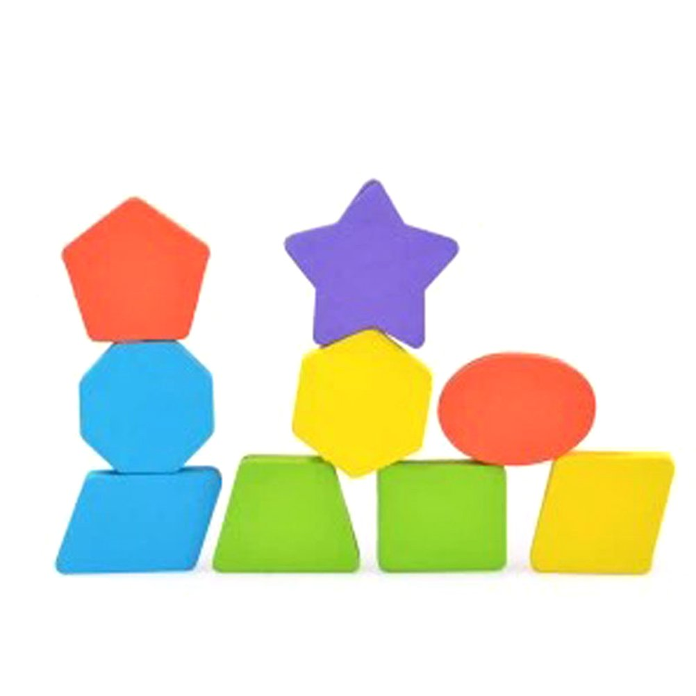 TOYMYTOY Puzzle di Legno per Bambini Forme Geometriche Legno