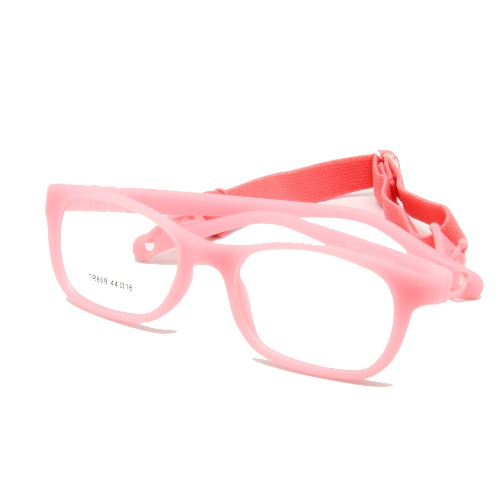 EnzoDate Children Glasses Frame with Strap No Screw 3-5Y Size 44//16