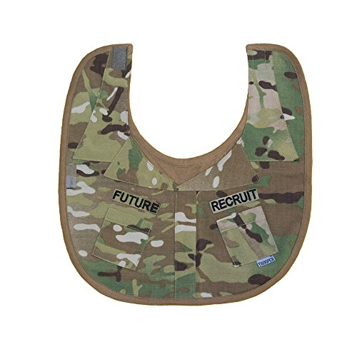 - Baby Boys Multicam Future Recruit Camo Uniform Baby Bib