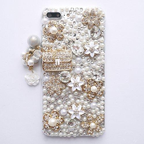 iPhone 7 Plus Case, iPhone 8 Plus case, DMaos Lady Handbag Design Rhinestone Snow Flower Cover Bling Diamond Clear Apple 7Plus 8Plus CASES 5.5 inch Design Bling