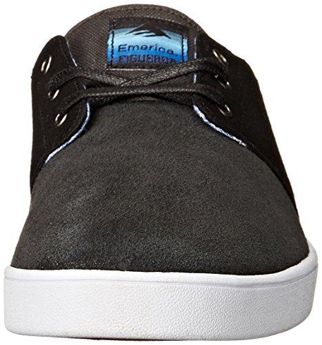 Emerica Grey white black The Dark Figueroa Scarpe Uomo Skateboard Da rxOwr4BT