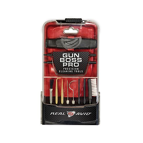 Real Avid Gun Boss Pro Precision Cleaning Tools - Gun Cleaning Picks, Brushes, pin Punches, and More (Shotgun Coated Rod)