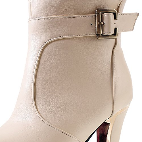 On Stiefel Apricot Low Material Solide Top Damen Weiches High Heels Pull Allhqfashion qv7BnwUzxP