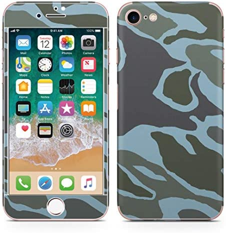 igsticker iPhone SE 2020 iPhone8 iPhone7 専用 スキンシール 全面スキンシール フル 背面 側面 正面 液晶 ステッカー 保護シール 004127 チェック・ボーダー 迷彩 カモフラ 模様
