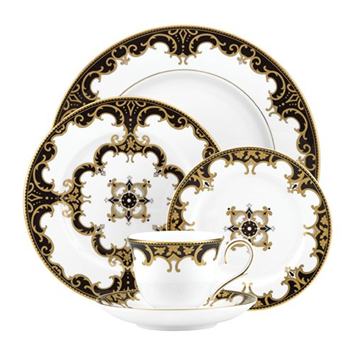 Couture 5 Piece Place Setting - Lenox Marchesa Couture Night 5-Piece Dinnerware Place Setting, Baroque