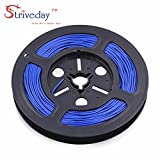 Striveday™ 1007 20AWG Electric wire 20 Gauge/AWG Electronic Stranded Coper Wire Cable Hook Up Wire For DIY 300V Cables 20AWG-5m-blue