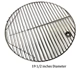 "Hongso SCG195 19.5"" BBQ Stainless Steel Round Cooking Grates/Cooking Grid for Kamado Ceramic Grill, 20 inch Grill Grate"